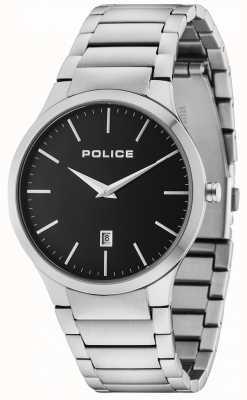 Police Horyzont srebrna bransoleta czarna tarcza 15246JS/02M