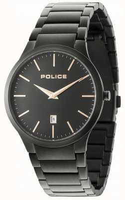 Police Czarna bransoletka Horizon czarna tarcza 15246JSB/02M