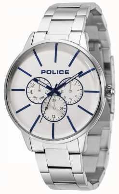 Police Swift bransoleta ze stali szlachetnej ze srebrną tarczą 14999JS/04M