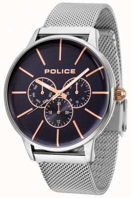 Police Swiftowa bransoletka z różowego złota z czarną tarczą 14999JS/03MM