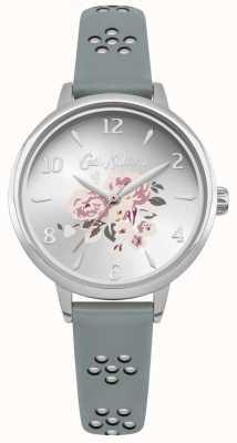Cath Kidston Laserowo wycinany kwiatowy pasek kwiatowy cyferblat srebrna CKL043US