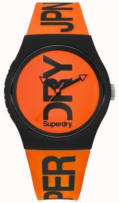 Superdry Pomarańczowy pomarańczowy silikonowy pasek wybierania SYG189OB