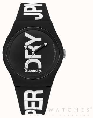 Superdry Czarny, czarny, silikonowy pasek SYG189BW