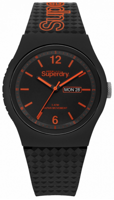 Superdry Czarny, czarny, silikonowy pasek SYG179OB