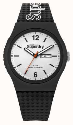 Superdry Biała czarna tarcza z silikonu SYG179WB