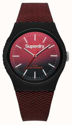 Superdry Czerwony lub czarny pasek z czerwoną i czerwoną opaską SYG184RB