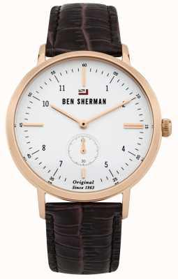 Ben Sherman Profesjonalna biała skóra typu dylan z białego złota WBS102TRG