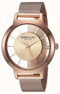Kenneth Cole Damska siatka ze stali nierdzewnej w nowym yorku, w kolorze różowego złota KC15172002