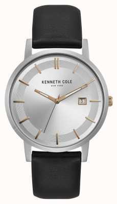 Kenneth Cole New york srebrne tarcza różowe markery złota wyświetlacz daty KC15202001
