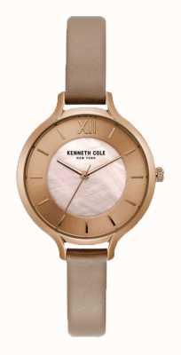 Kenneth Cole Damska nagość w nagie skórzane etui z nadrukiem na szampana KC15187004