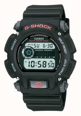 Casio Cyfrowy chronograf z czarnej żywicy G-shock DW-9052-1VER