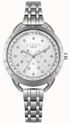 Lipsy Srebrny zestaw kryształów Sunray srebrna obudowa ze stali nierdzewnej LP553