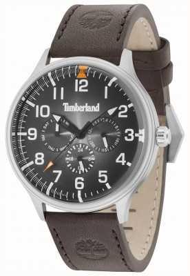 Timberland Blanchard czarny skórzany pasek z ciemnobrązowym paskiem 15270JS/02