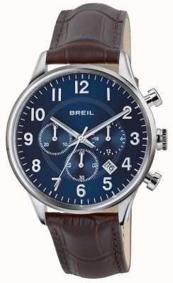 Breil Pasek ze stali nierdzewnej Contempo chronograf z niebieską tarczą TW1576