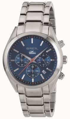 Breil Manta City, stal nierdzewna, chronograf, niebieska bransoleta TW1605
