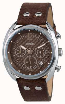 Breil Beaubourg ze stali nierdzewnej chronograf matowy brązowy tarcza TW1663