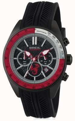 Breil Abarth czarny ze stali nierdzewnej czarny chronograf czarny i czerwony dia TW1693