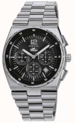 Breil Manta sport chronograf czarna bransoleta ze stali nierdzewnej TW1639
