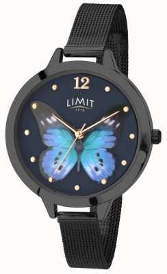 Limit Damski sekretny zegarek z czarnym motylem na pvd 6270.73
