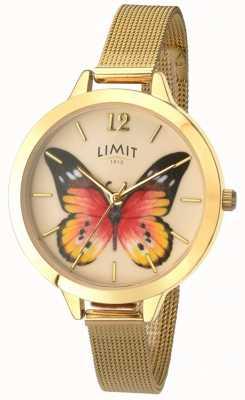Limit Tajemniczy zegarek ze złotej siatkowej motyla ogrodniczego 6276.73