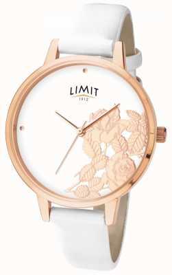 Limit Kobiet płaski połysk biały kwiatowy tarczy 6290.73