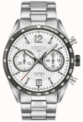 Roamer Męski zegarek z najwyższej klasy zegarkami chrono ii 510902411450