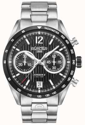Roamer Męski zegarek z najwyższej klasy zegarkami chrono ii 510902415450
