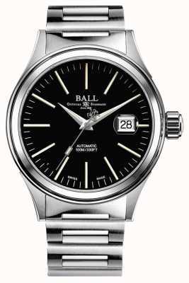 Ball Watch Company Strażak automatyczna czarna tarcza z datownikiem powiększonym 40mm NM2188C-S5J-BK