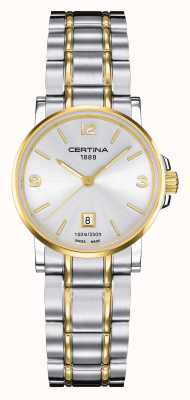 Certina Damski zegarek dwufunkcyjny ds. Caimano C0172102203700
