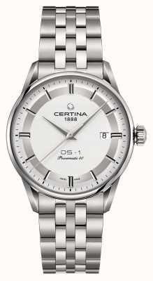 Certina Mens ds-1 powermatic 80 automatyczny zegarek C0298071103160