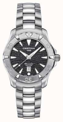 Certina Damski zegarek ds action 300m ze stali nierdzewnej z czarną tarczą C0322511105109