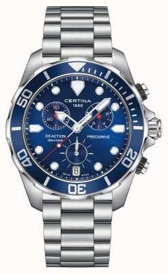 Certina Mens ds action precidrive chronograph 300m zegarek C0324171104100