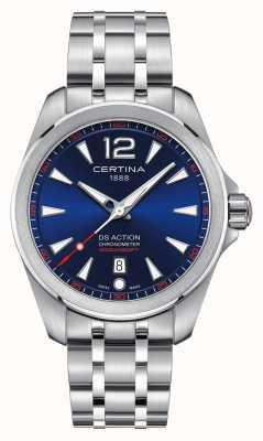 Certina Mens ds action niebieski zegarek dial C0328511104700