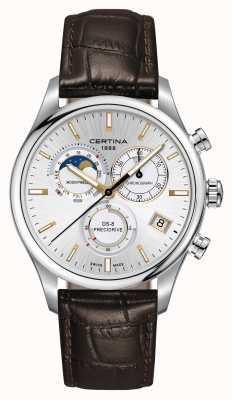 Certina Mens ds-8 precidrive zegarek chronografu z fazą księżyca C0334501603100