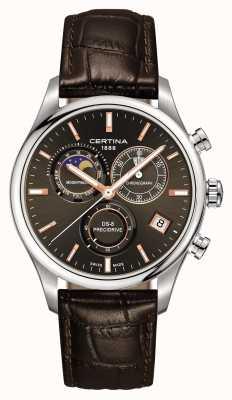 Certina Mens ds-8 precidrive zegarek chronografu z fazą księżyca C0334501608100