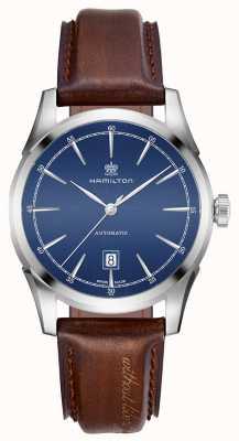 Hamilton Męski duch wolności automatyczny zegarek z niebieską tarczą H42415541