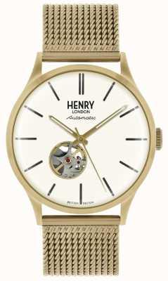 Henry London Męskie bransoletki z automatyczną bransoletką z białego złota HL42-AM-0284