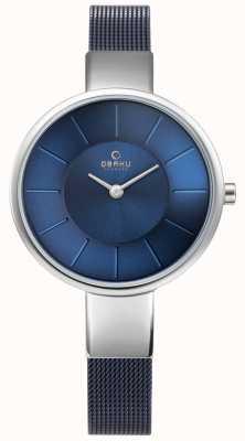 Obaku Damski zegarek sol niebieski mesh V149LXCLML