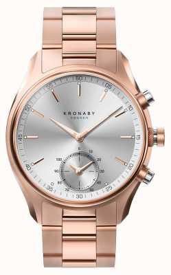 Kronaby 43mm SEGEL bluetooth z różowego złota metalowa bransoletka smartwatch A1000-2745