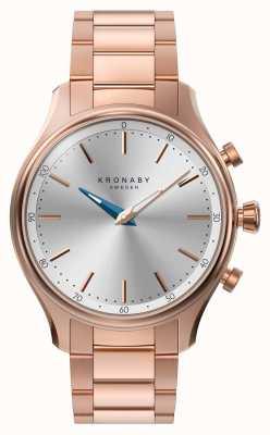 Kronaby 38mm SEGEL bluetooth z różowego złota metalowa bransoletka smartwatch A1000-2747