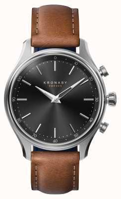 Kronaby Skórzany pasek zegarka 38mm ze stali nierdzewnej bluetooth A1000-2749