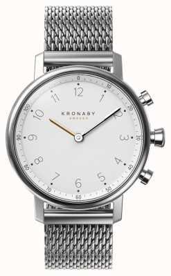 Kronaby Bransoletka zegarka 38mm nord bluetooth ze stalową siatką A1000-0793