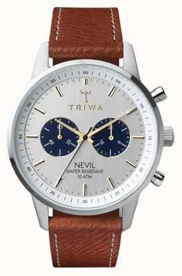Triwa Loch nevil ma na sobie brązowo naszytą klasyczną 2 NEST116-010212