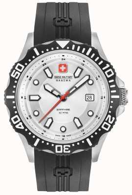 Swiss Military Hanowa Srebrny silikonowy pasek Patrol 06-4306.04.001SM