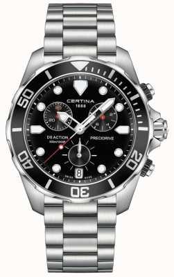 Certina Mens ds action precidrive chronograf czarny zegarek C0324171105100