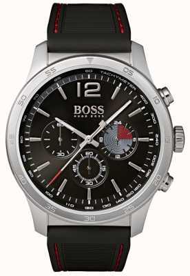 BOSS Męski profesjonalny chronograf zegarek czarny 1513525