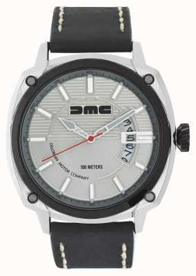 DeLorean Motor Company Watches Alfa dmc srebrny męski srebrny czarny skórzany pasek wybierania DMC-3