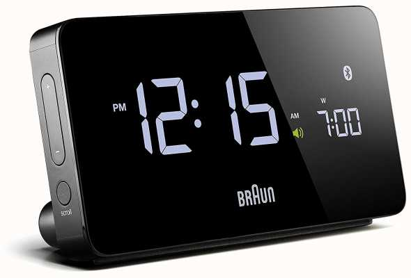 Braun Cyfrowy budzik z bluetooth w kolorze czarnym BNC020BK