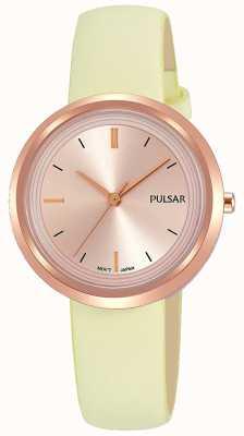 Pulsar Różowo-złoty futerał i skórzany pasek PH8394X1