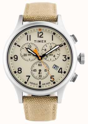 Timex Pokrowiec chroniony khaki chroniony kami / naturalna tarcza TW2R47300